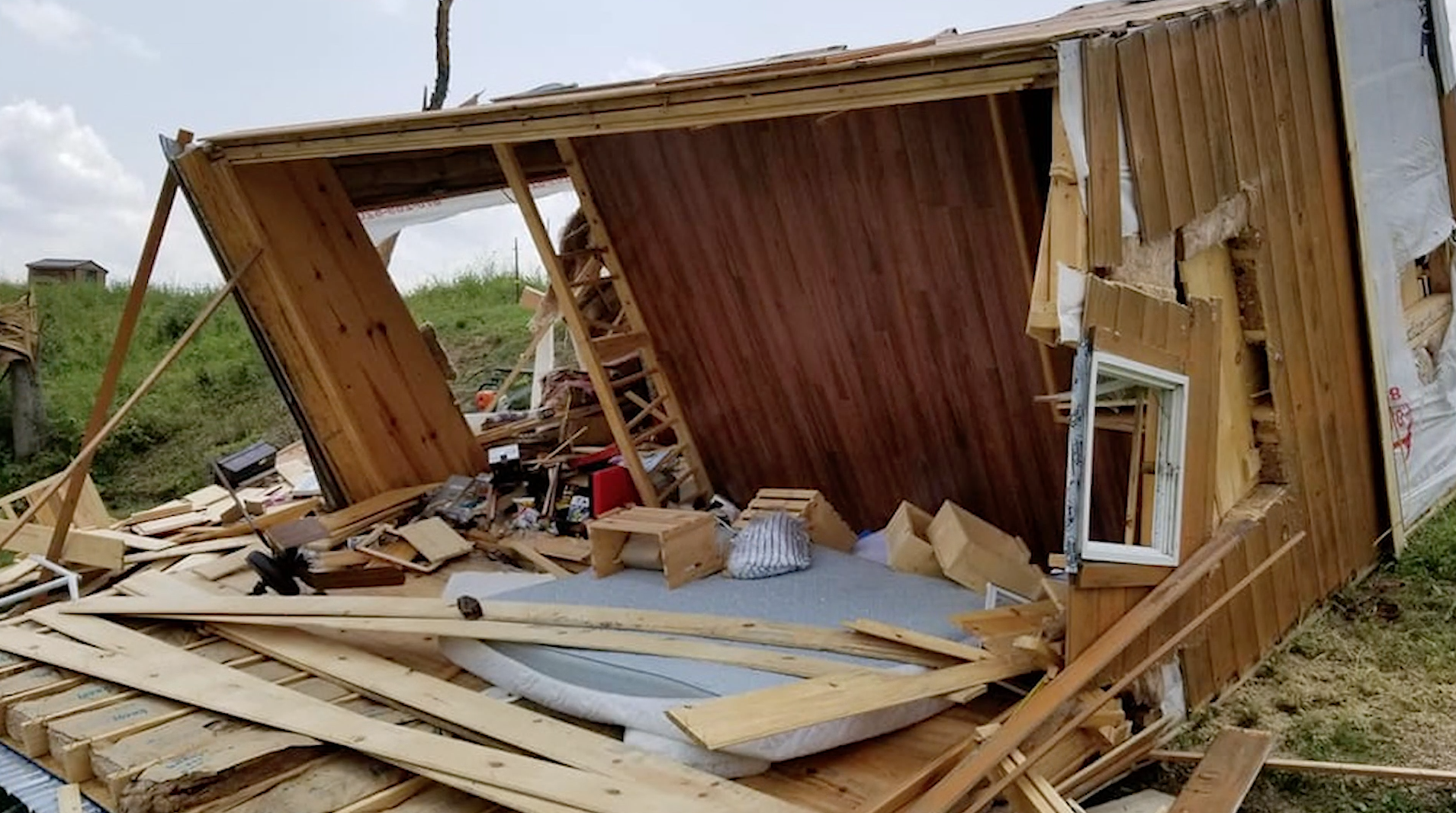 Highland House destroyed by a tornado